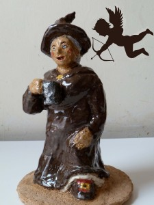 Nanny Ogg with flying Cupid