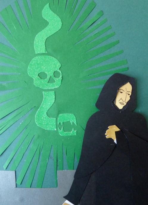 Snape with Dark Mark in Sky