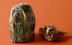Errol and Pigwigeon, the Weasley Owls